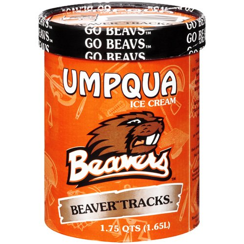 Umpqua O Beaver Tracks Ice Cream, 1.75 qt