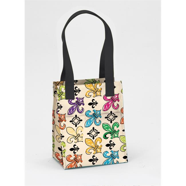 Joann Marrie Designs NLB2CFDL Large Lunch Bag - Creme Fleur De Lis, Pack of 2