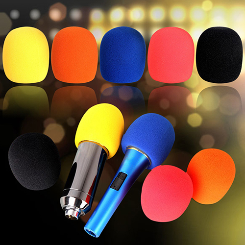 Girl12Queen Thickening Microphone Sponge Cover Foam Ball-Type Mic Windscreen 5 Colors