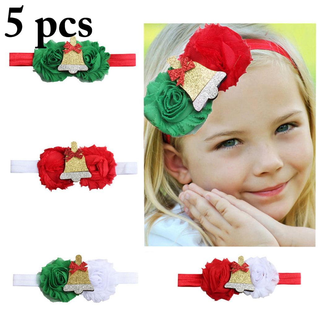 Headbands For Baby Girls Justdolife 5pcs Christmas Baby Headband