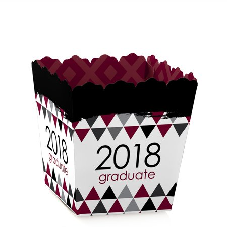 Maroon Grad - Best is Yet to Come - Party Mini Favor Boxes - Maroon 2018 Graduation Party Treat Candy Boxes - Set of 12 - Graduation Party Favors Ideas