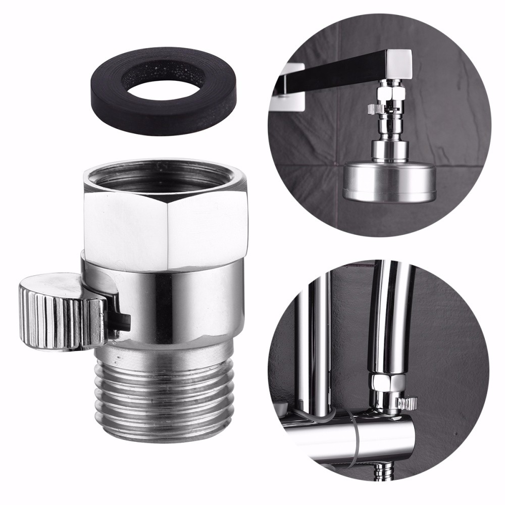 Chrome Bathroom Lever Water Shut Off Valve and Pipe Rosette Angle Radiator Valve