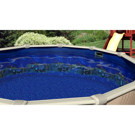 Antilles Dolphin 25 Gauge Oval Above Ground Swimming Pool Liner with ...