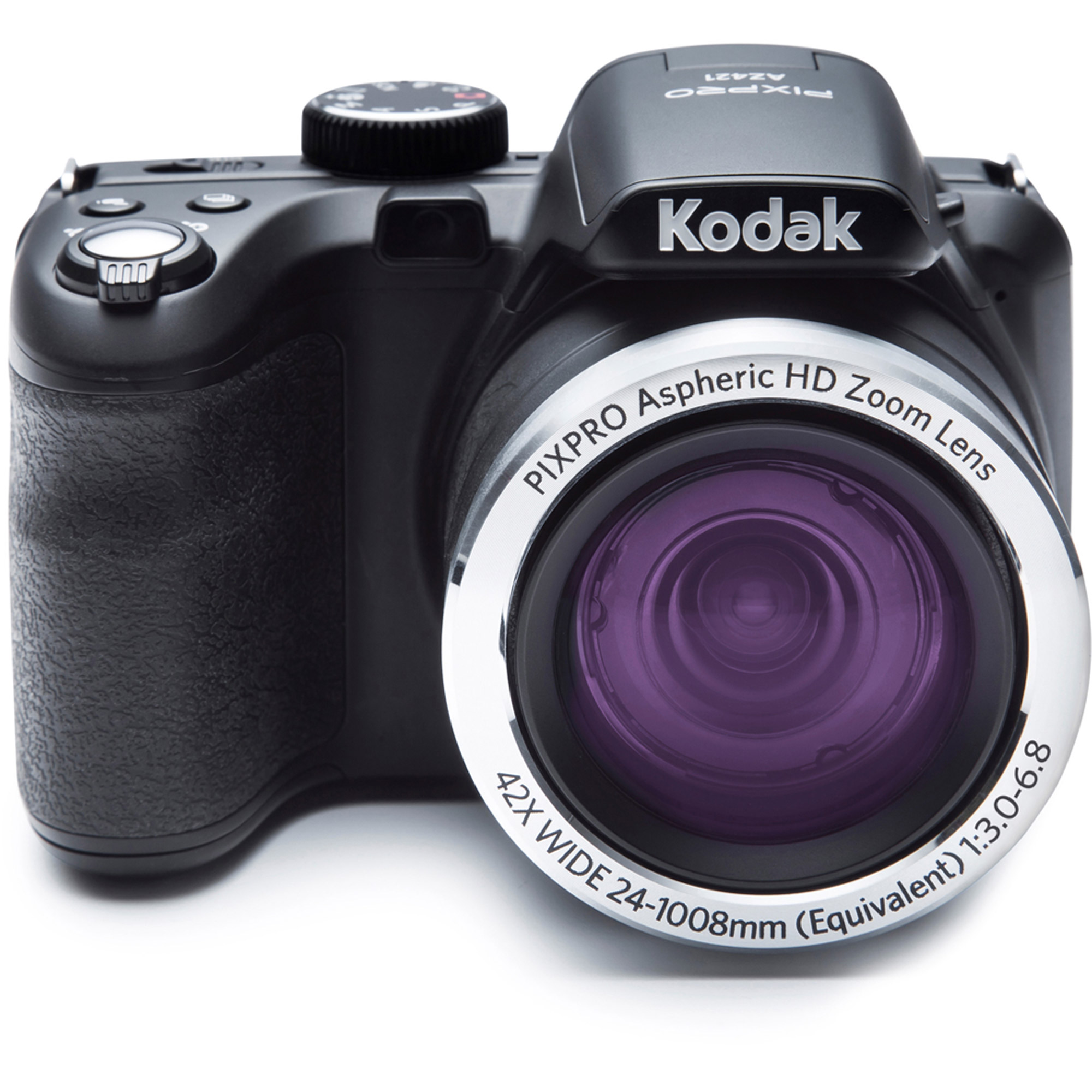 KODAK PIXPRO AZ421 Bridge Digital Camera 16MP 42X Optical Zoom HD720p (Black) by Kodak