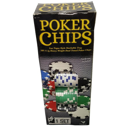100-Piece Poker Chip Set Paulson Poker Chips