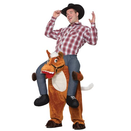Adult Horse Back Cowboy Rider Halloween Costume - Homemade Halloween Costumes For Horses