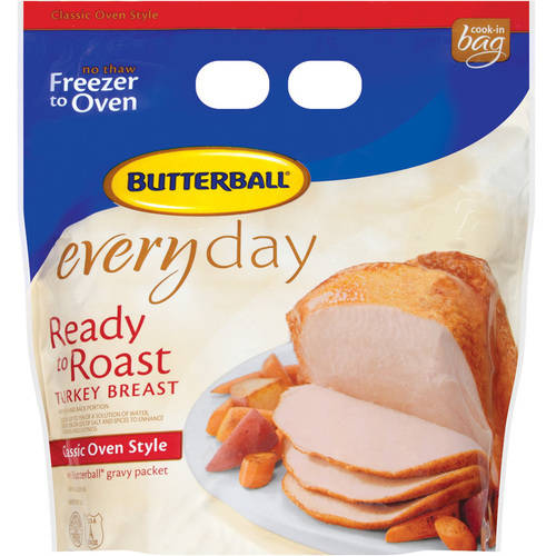 Frozen Butterball Ready to Roast Everyday Classic Oven Style Turkey Breast  5.0-6.25 lbs