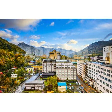Jozankei, Japan Hot Spring Resort Town during the Autumn Season. Print Wall Art By