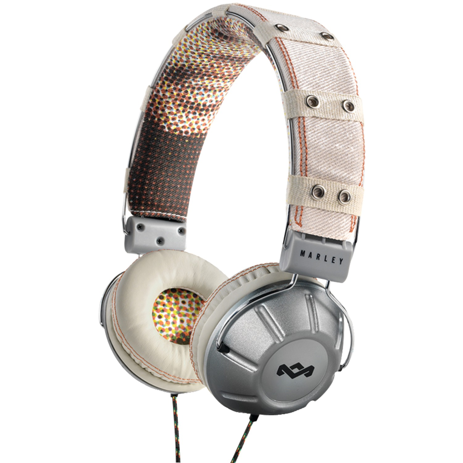 HOUSE OF MARLEY EM-JH001-DU Jammin' Over-Ear Rebel(TM) Dubby Headphones with 1-Button Microphone