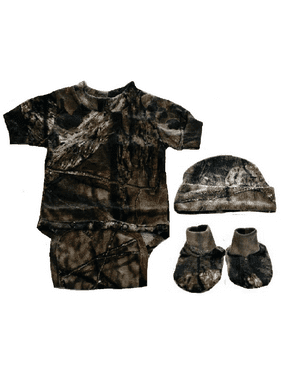 a4bfbb45579c1 Product Image Infant/Baby Camo Diaper Shirt with Hat & Booties Mossy Oak  Newborn