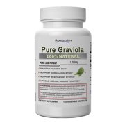 #1 Graviola By Superior Labs - 100% Pure, 600mg, 120 Vegetable Capsules - Made in USA, 100% Money Back Guarantee