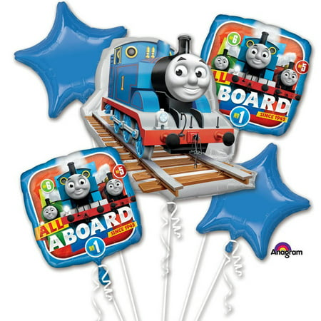 Thomas & Friends All Aboard Character Authentic Licensed Theme Foil Balloon Bouquet (Thomas And Friends Balloons)