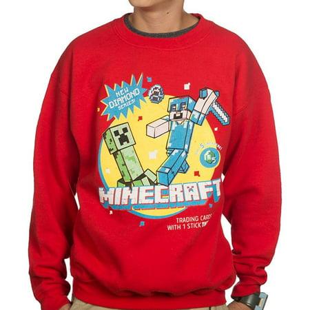 Kids Minecraft Hoodie (Vintage Trading Card Crew Youth Fleece)