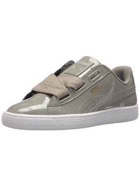 52ebe74cc48 Product Image Puma 363073-12  Women s Basket Heart Patent Rock Ridge Sneaker