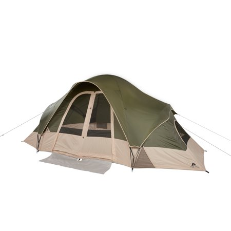 Ozark Trail 8-Person 2-Room Modified Dome Tent with Roll-back Fly
