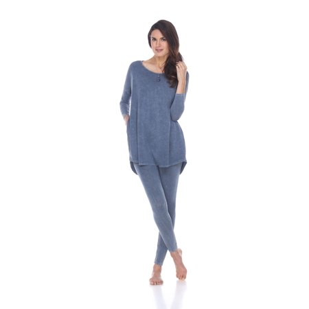 Rock Cotton - Rounded Bottom Tunic & Legging Set - Mineral Wash Blue - (Stores In Round Rock Outlet)