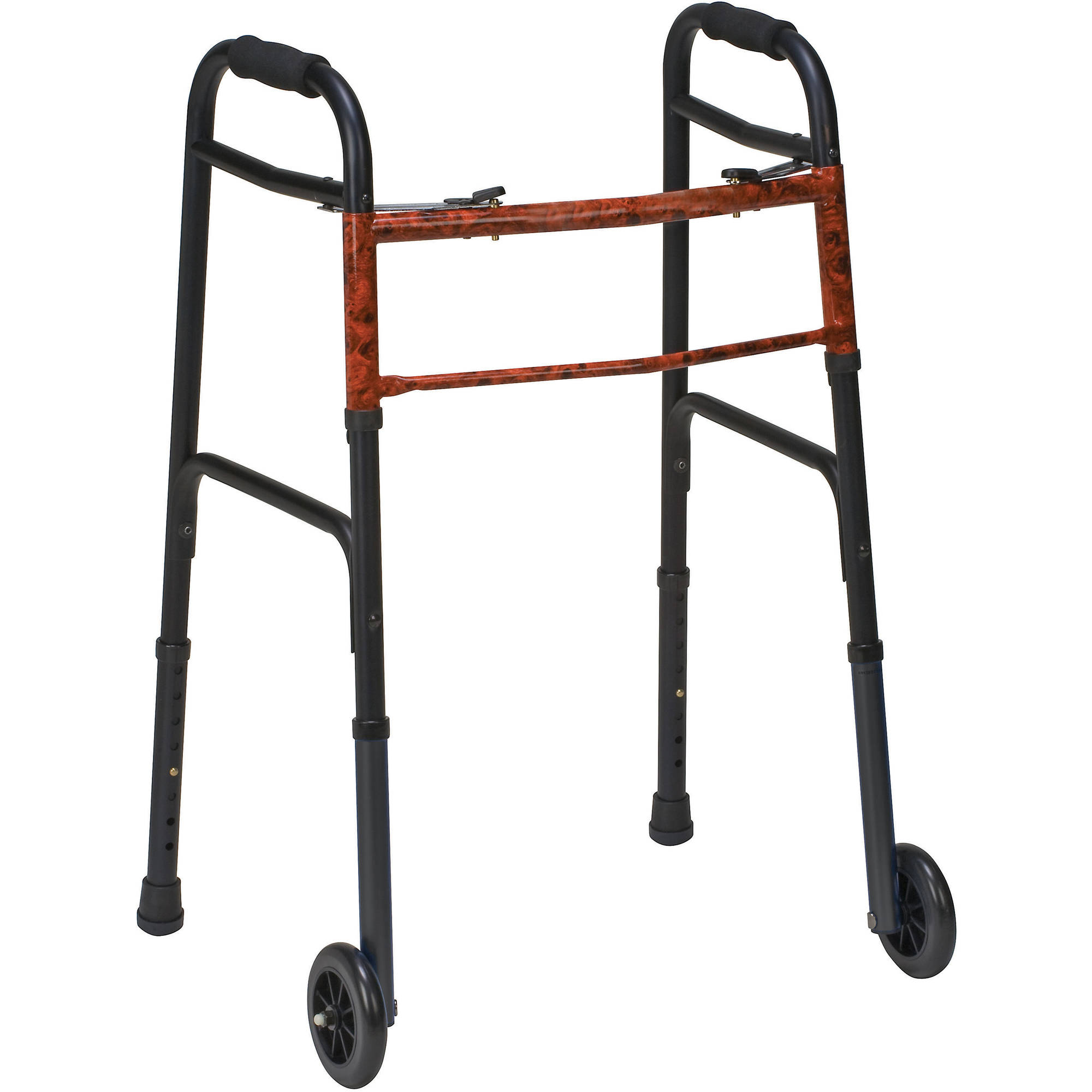DMI Lightweight Aluminum Folding Walker, 2-Pack
