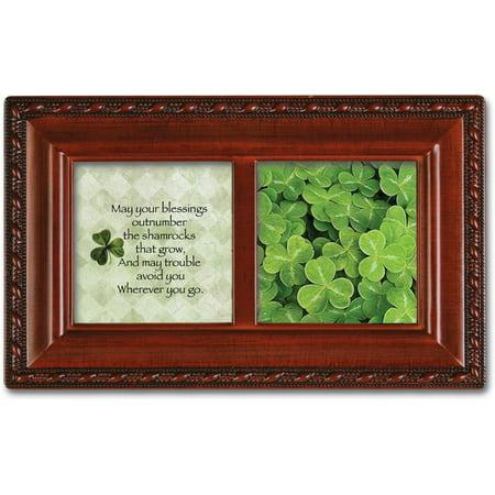 """Irish Blessing Petite Woodgrain Music Box Plays """"Irish Lullaby"""""""