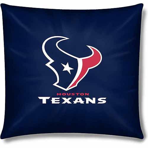 """Texans Official 15"""" Toss Pillow, 1 Each"""