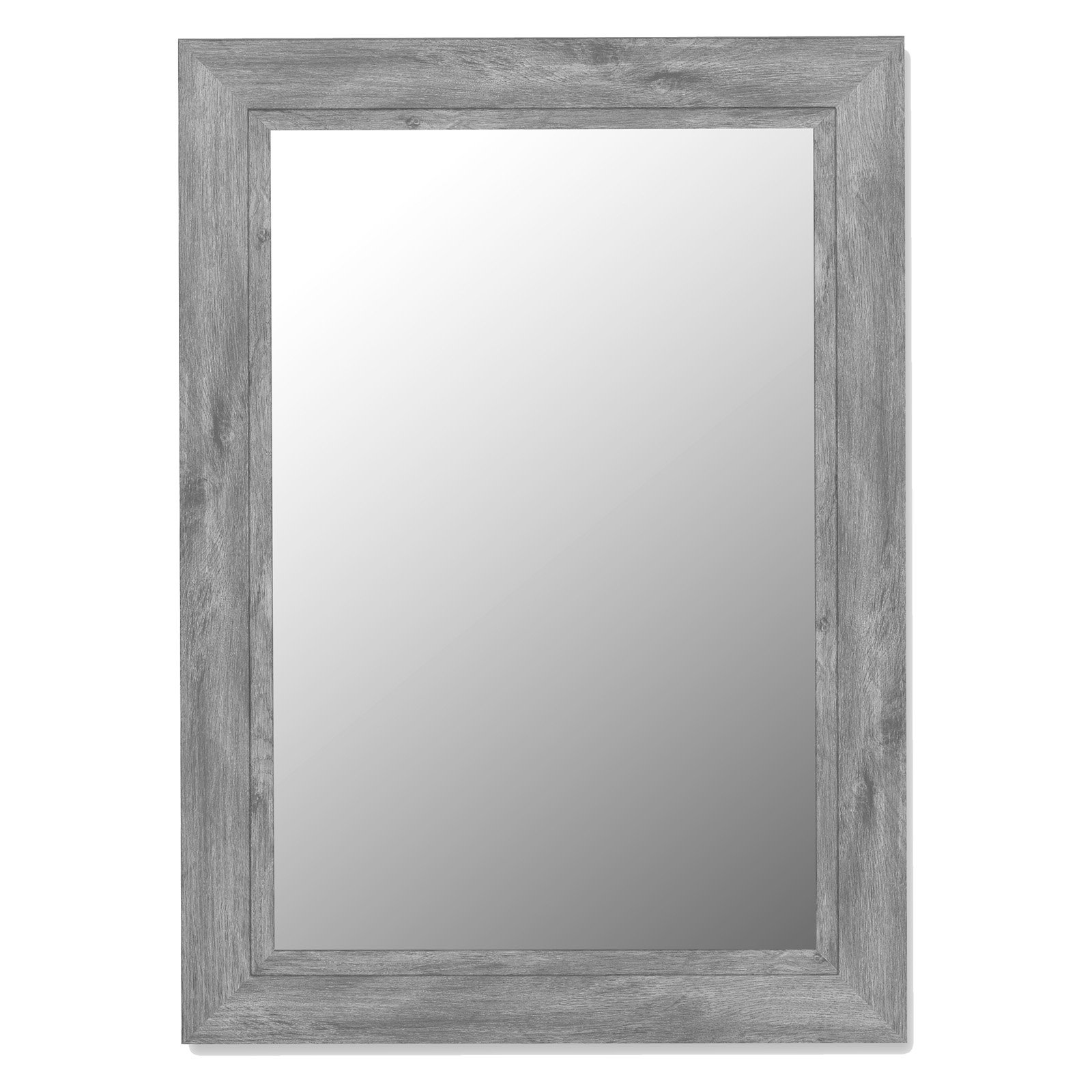 Weathered Gray Framed Wall Mirror by Hitchcock Butterfield
