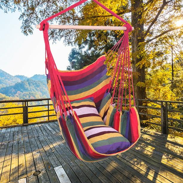 Portable Hammock Chair, BTMWAY Outdoor Single Rope Hammock ...