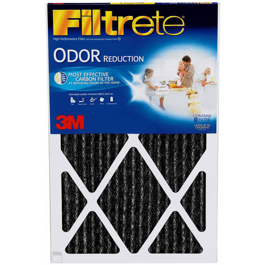 filtrete odor reduction air and furnace filter, 1200 mpr, 20 x 20 x ...