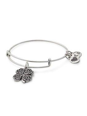 Four Leaf Clover Charm Bangle Bracelet