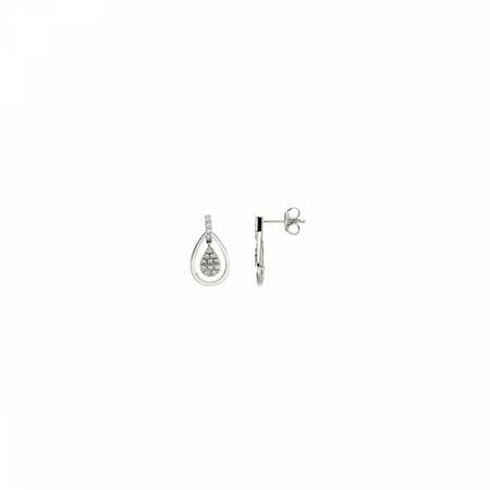 14kt White 1/4 CTW Diamond Earrings 67100 / 14Kt White / Pair 1/4 Ct Tw / Polished / Diamond Earring