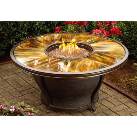 Oakland Living Moonlight 48 In Round Gas Fire Pit Table