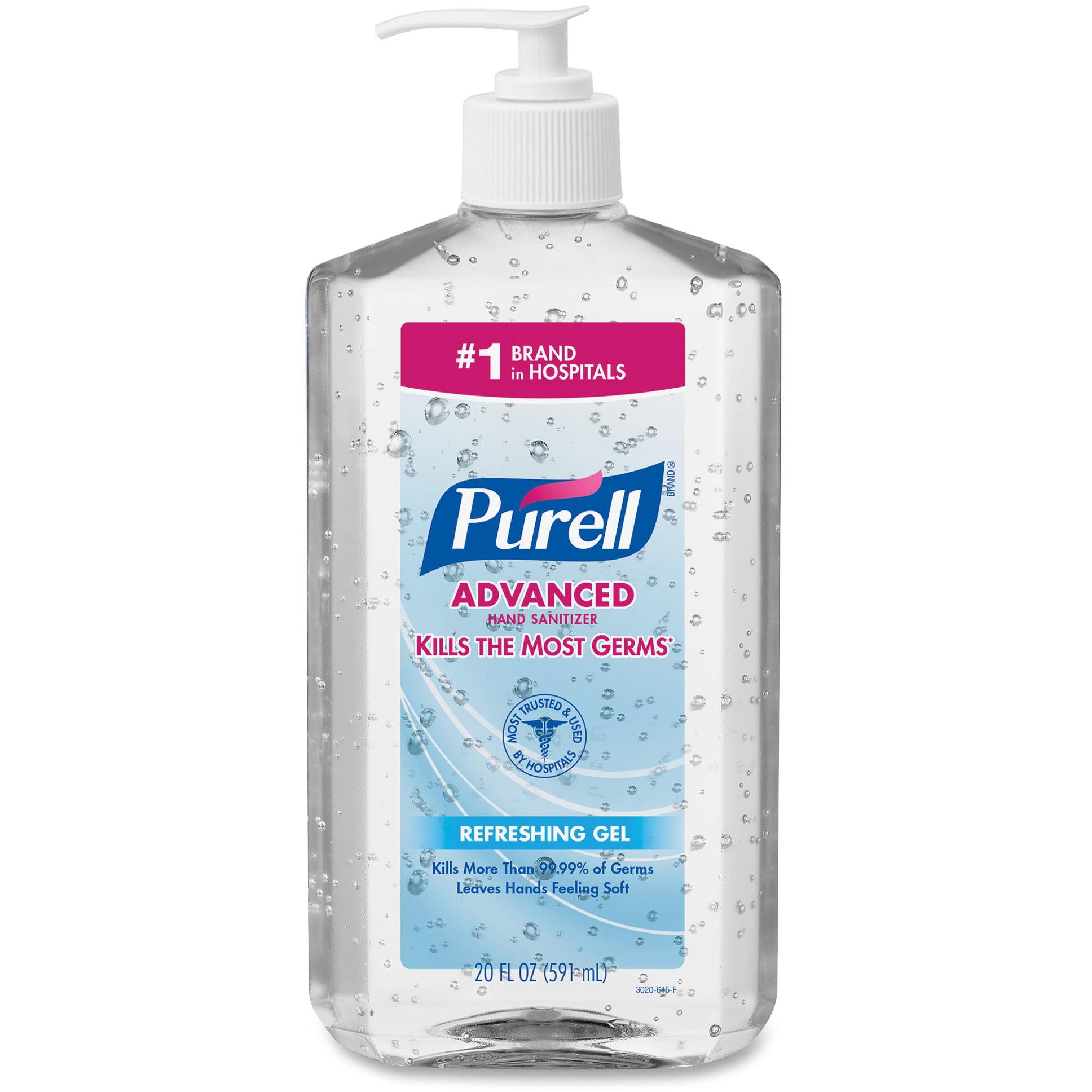PURELL 3023-12 Advanced Instant Hand Sanitizer, 20oz Pump Bottle, 12/carton