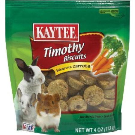 Kaytee Timothy Biscuits Baked Carrot Small Animal Food, 4 Oz