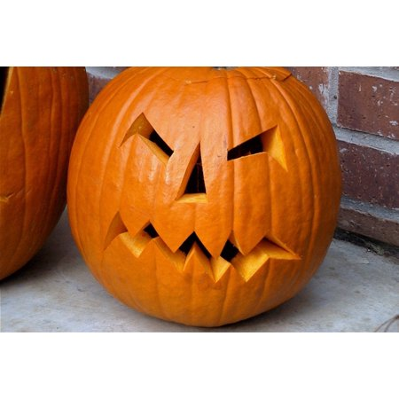 LAMINATED POSTER Halloween Pumpkin Spooky Scary October Orange Poster Print 24 x 36