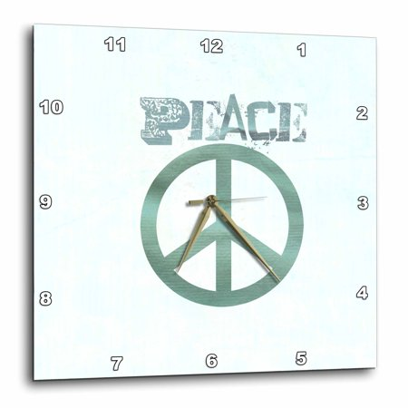 3Drose Turquoise Peace Sign Symbols Spirituality  Wall Clock  13 By 13 Inch