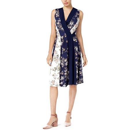 Print Surplice Dress - Maison Jules Printed Surplice Wrap Dress