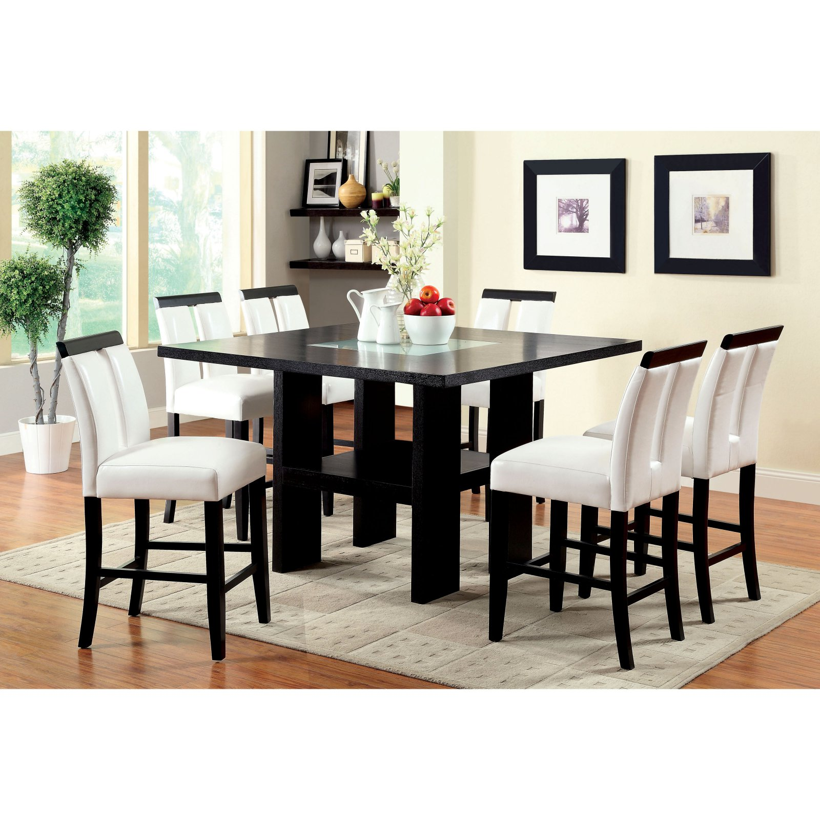 Charmant Furniture Of America Luminate Contemporary 7 Piece Illuminating Counter  Height Dining Set