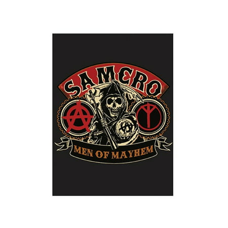 SOA Sons of Anarchy Men of Mayhem Velour Perfect Soft Thick Microfiber Mink to Black Cast Aside Gritty Exterior Warm Light weight 60