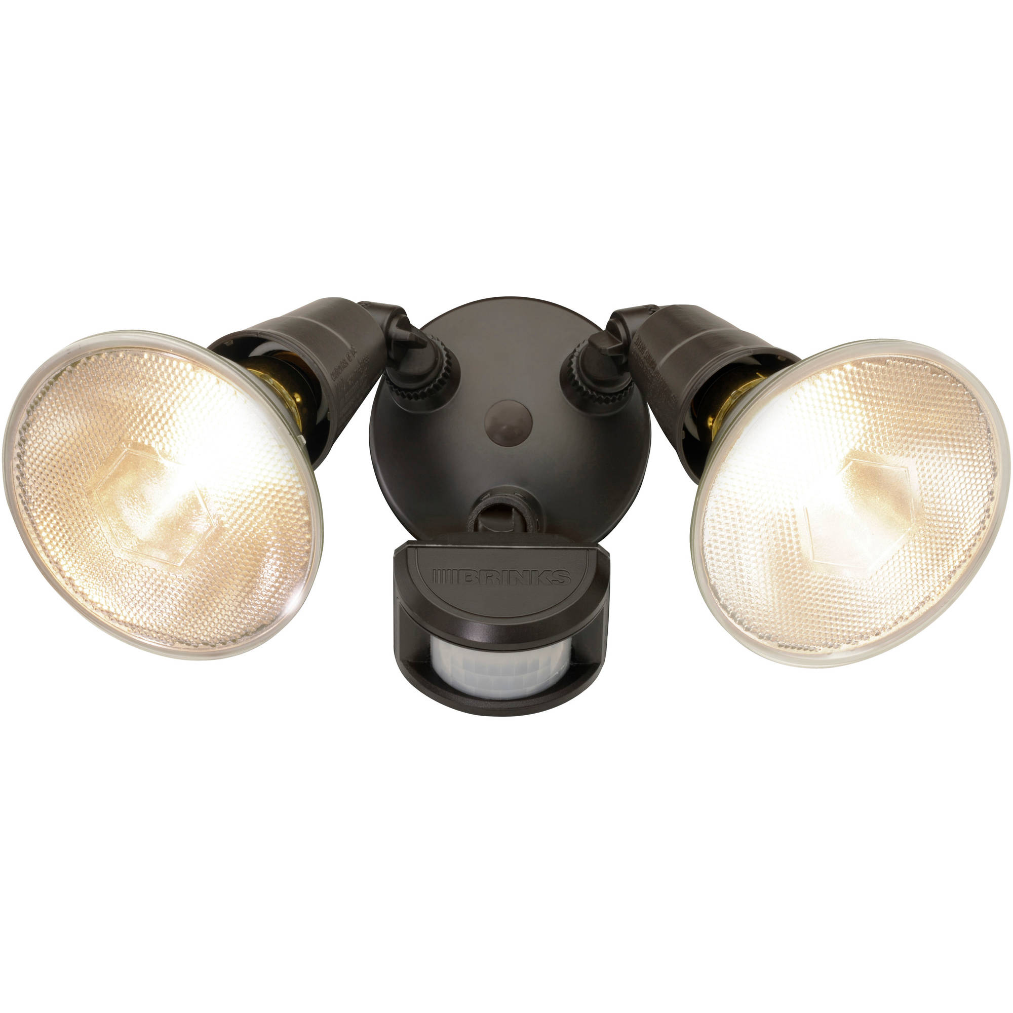 Brink's 180-Degree 2-Head without Head Motion Activated Security Light