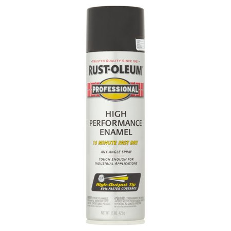 (3 Pack) Rust-Oleum Professional Gloss Black High Performance Enamel, 15 (Chisel Black Enamel Flat)