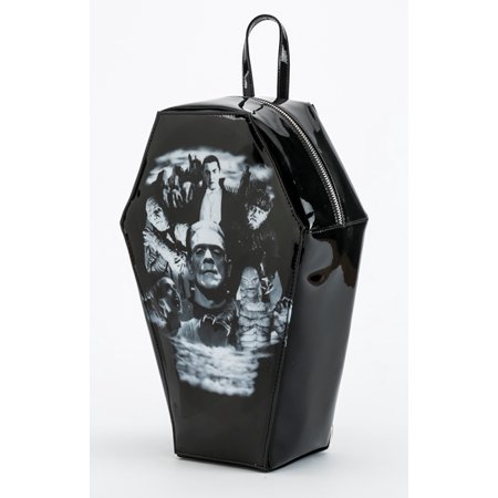 - Universal Monsters Gothic Monster Collage PVC Coffin Backpack by Rock Rebel