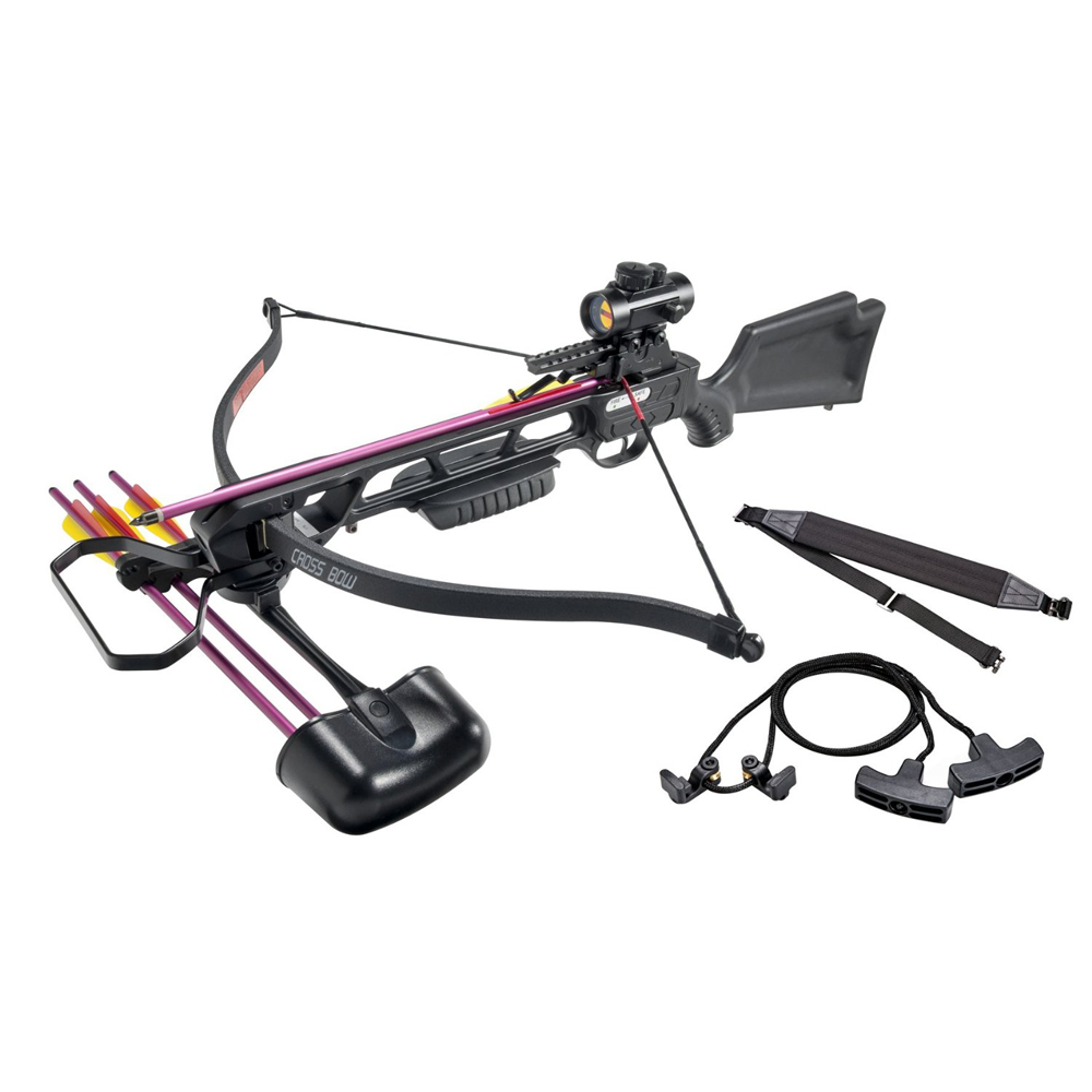 Leader Accessories Crossbow Package 160lbs 210fps Archery Equipment Hunting Bow with Quiver and 4pcs of Aluminum Arrow by Leader Accessories