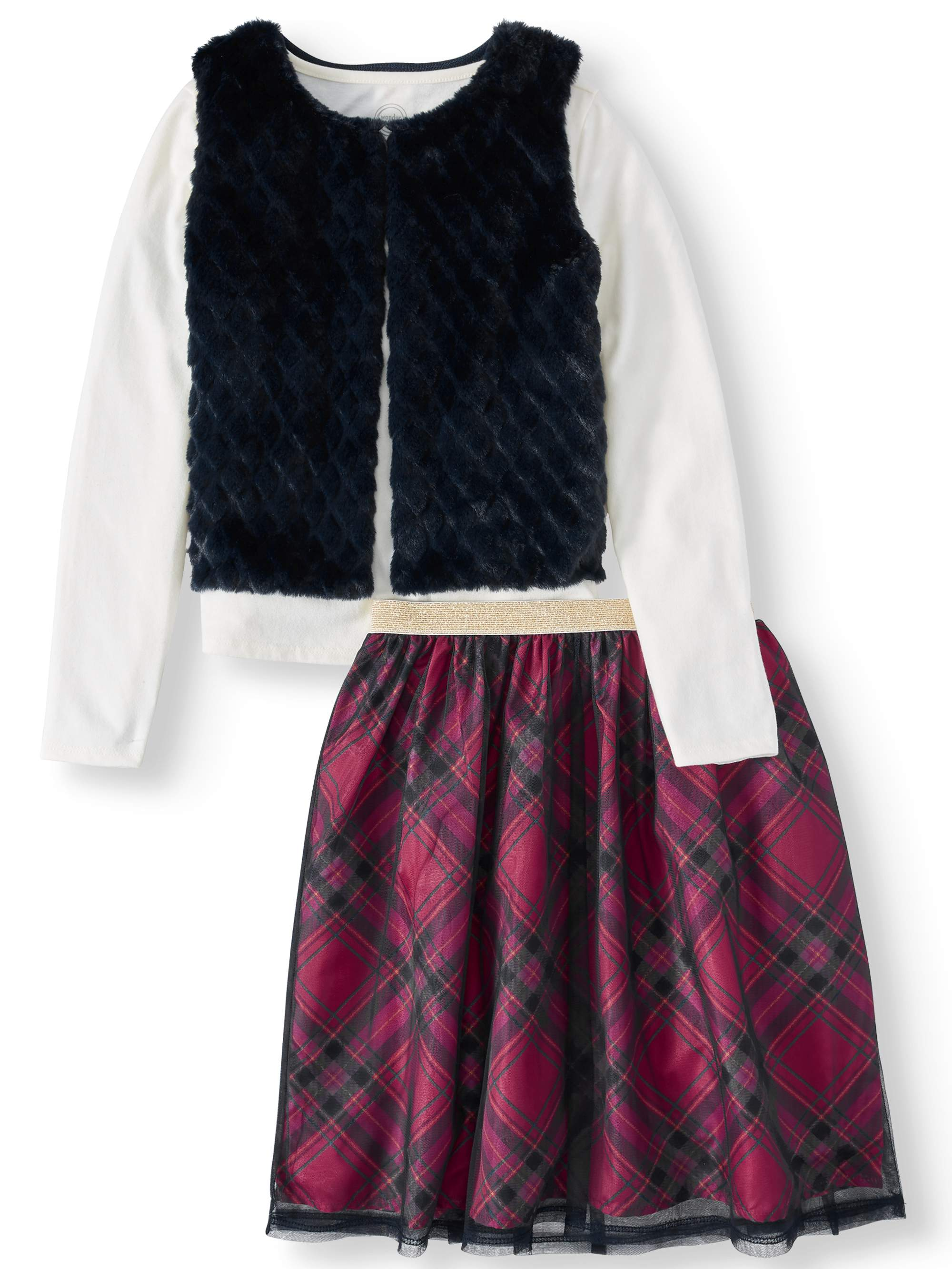 DESCENDANTS 3 Graphic Top and Tutu Skirt 2-Piece Outfit Set Little Girls /& Big Girls