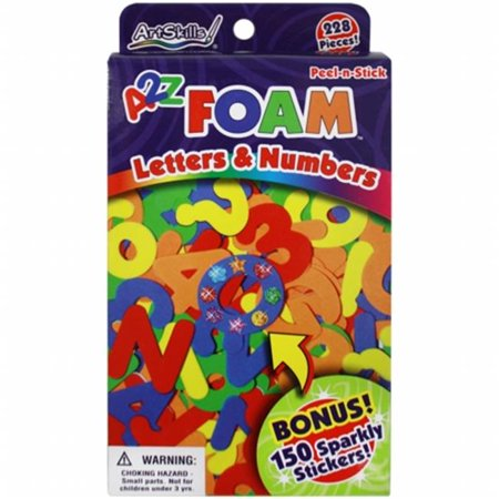 Peel-N-Stick Foam Letters & Numbers 228/Pkg-W/150 Sparkly Stickers
