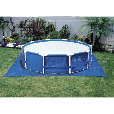 Intex above ground pool ground cloth up to 15ft for Swimming pool supplies walmart