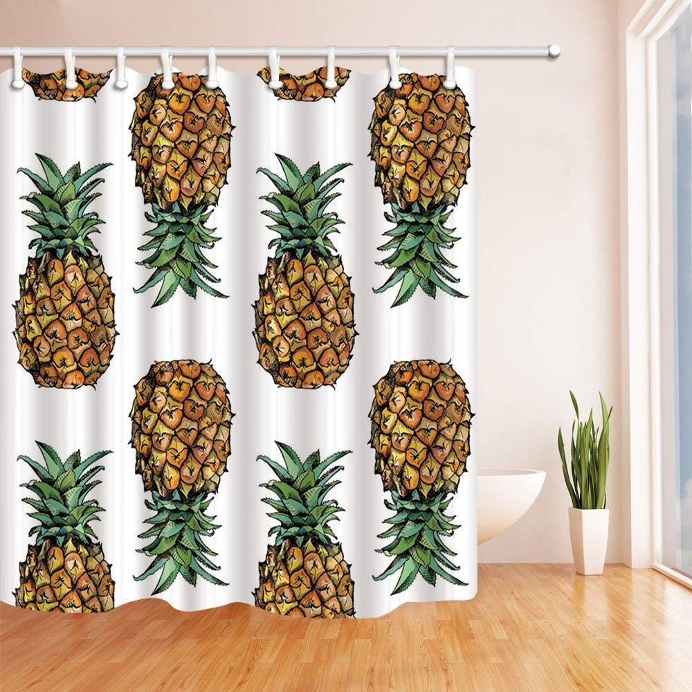 WOPOP Tropical Fruit Pineapple With Leaves Polyester