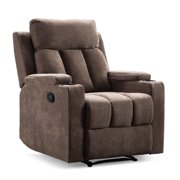 Adjustable Angle Microfiber Power Lift Electric Recliner Chair, Massage Sofa Fabric Living Room Chair with 2 Cup Holders