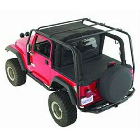 Smittybilt 76717 SRC Roof Rack 300 Lb Rating Black Textured Jeep 07-15 JK 4