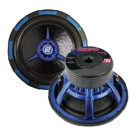 Power Acoustik Woofer - Power Acoustik 12 Inch Woofer Dual 4 Ohm 2500w Max Audio Woofers  - Black