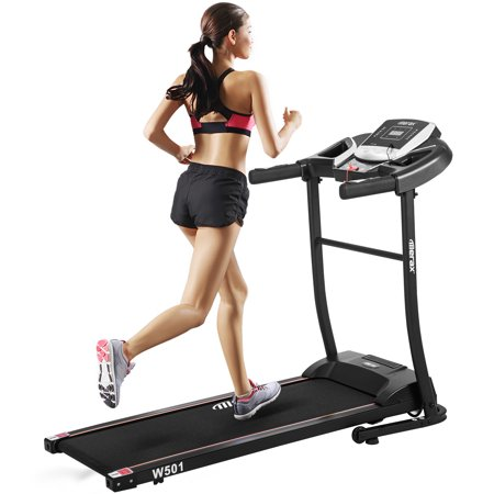Electric Folding Treadmill with Incline, 16'' Wide Tread Belt Treadmills for Smart Digital Folding Exercise Machine with Transportation Wheels, 12.8 MPH Max Speed for Home & Gym Cardio Fitness,