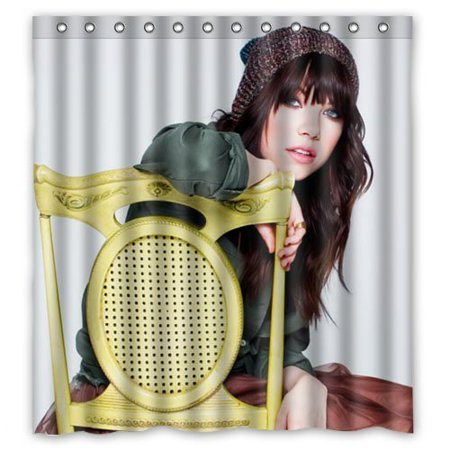 Deyou Sexy Woman Carly Rae Jepsen Shower Curtain Polyester Fabric Bathroom Shower Curtain Size 66X72 Inches