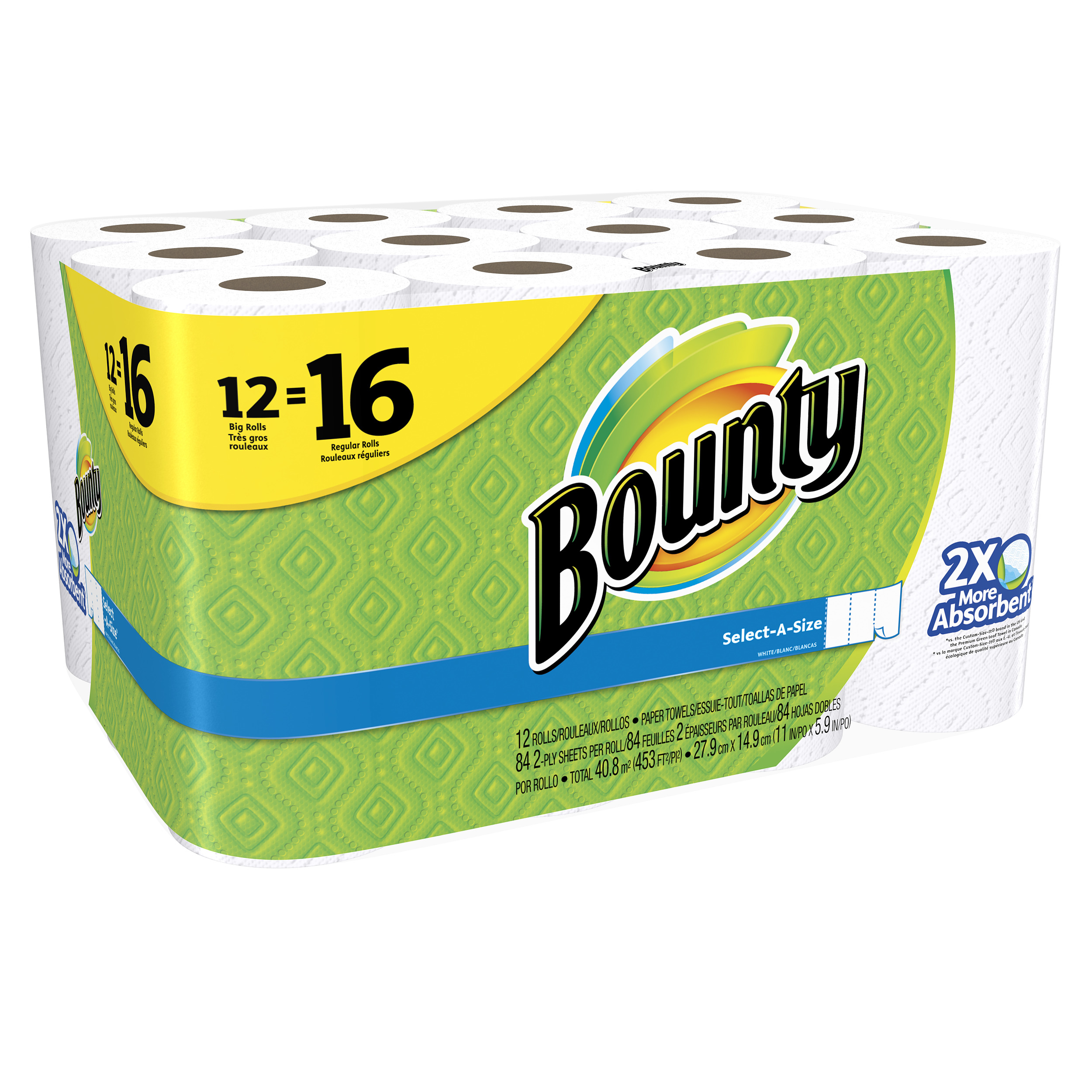 56aca312dd1 ... White Paper Towel 2 Roll 003700088182 The. Bounty Select A Size Big Roll  Paper Towels 84 Sheets 12 Rolls